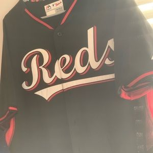Reds stitched spring training jersey